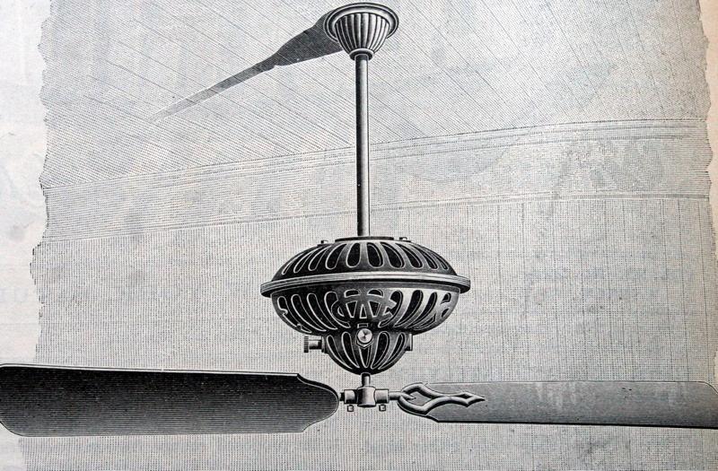 Rare Crocker Wheeler Ceiling Fan
