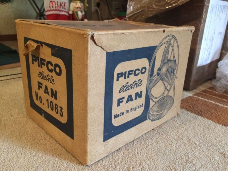 1960s Box Fan : S pifco with original box post vintage