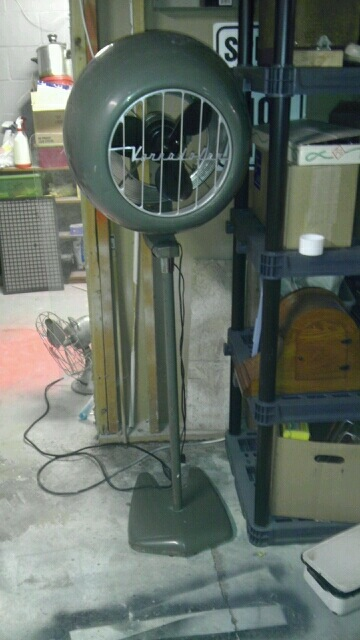 Vintage Pedestal Fan : Voranado pedestal fan post vintage antique