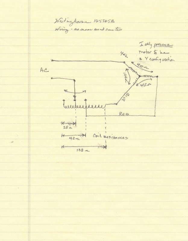 Wiring diagram for Westinghouse 165365B fan - Pre-1950 (Antique) - Antique  Fan Collectors Association - AFCA ForumsAFCA Forums